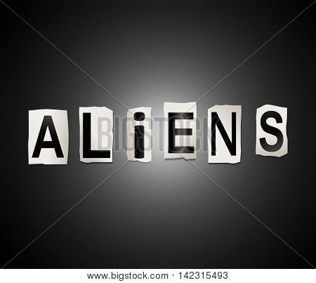 Alien Word Concept.