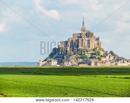 Landscape of Normandy and Mont Saint-Michel, Normandy France