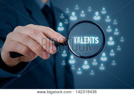 Human resources or headhunter search talented programmers and software developers.