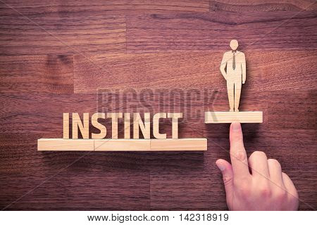 Successful manager has business instinct. Businessman with instinct has potential to growth.