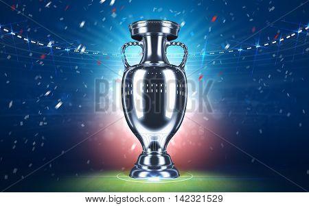 Football championship. Cup 2016. Sport concept. 3d render.