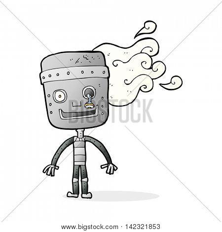 cartoon old robot