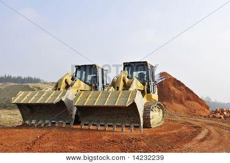 two excavators