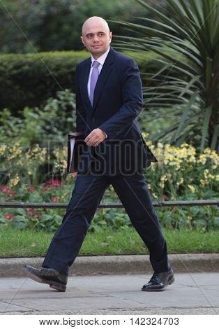 LONDON, UK, MAY 17, 2015: Sajid Javid MP arrives for a Cabinet meeting at 10 Downing Street