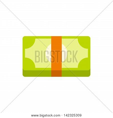 Packed dollars money icon in flat style on a white background