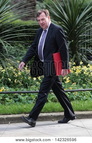 LONDON, UK, MAY 17, 2015: John Whittingdale MP arrives for a Cabinet meeting at 10 Downing Street