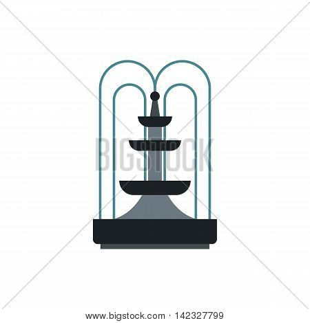 Fountain icon in flat style on a white background