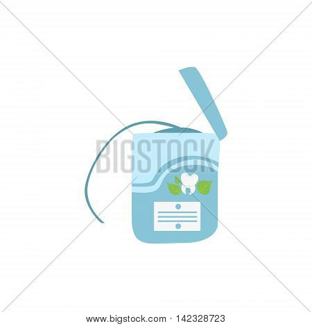 Pack Of Dental Floss Simple Design Illustration In Cute Fun Cartoon Style Isolated On White Background