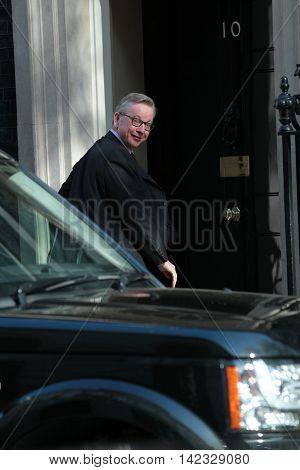 LONDON, UK, MAY 3, 2016: Michael Gove MP seen in Downing Street in London