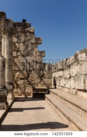 Ruins of the Synagogue in Capernaum The Town of Jesus - Israel