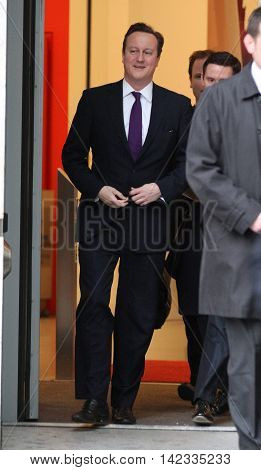 LONDON, UK, JAN  27, 2014: David Cameron, Prime Minister of the United Kingdom seen leaving 10 Downing street