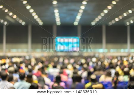 Blur image meeting room with light bokeh background