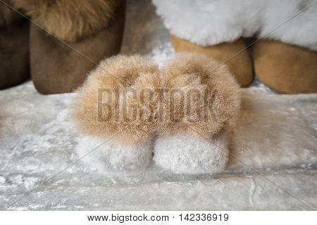Pair of children winter boots
