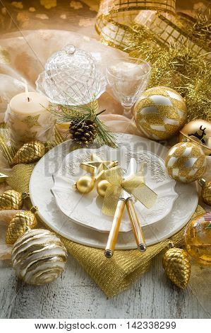 Christmas setting and decoration in one of the restaurants
