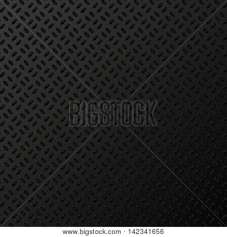 Diamond Plated. Black metallic texture. Vector illustration EPS 10
