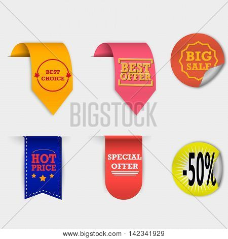 Price Tag Set VECTOR isolated on white background.