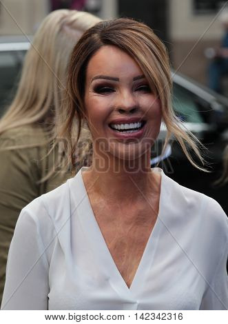 LONDON, UK, JUNE 3, 2016: Katie Piper seen arriving to Global media radio picture taken from the street