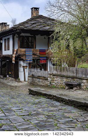 Old houses in Architectural ethnographic complex Etara Bulgaria