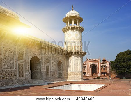 Itmad-Ud-Daulah's Tomb (Baby Taj) (17th century) at Agra Uttar Pradesh India