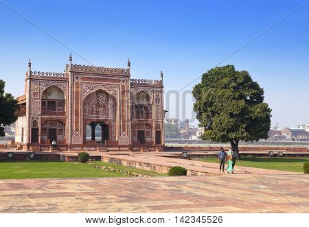 Gate to Itmad-Ud-Daulah's Tomb (Baby Taj)(17th century) at Agra Uttar Pradesh India