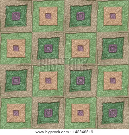Floor tiles seamless generated texture, 3D illustration
