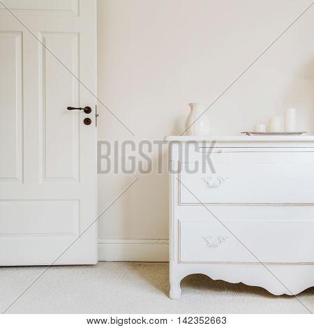 White And Stylish Commode
