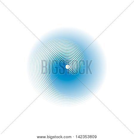 Spirally circular shape. Blurred effect. Vector illustration.