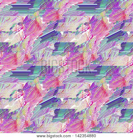 Seamless glitch art pattern