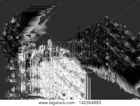 Glitch art background