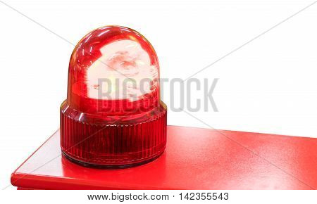 Red Siren light isolated on white background