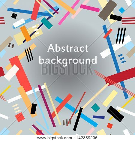 Abstract art intersection colorful geometric background rectangles