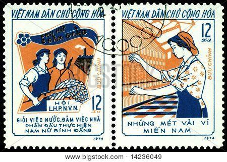 Vintage  Postage Stamp.  Three Responsibilities Women's  Movement.