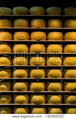 Parmigiano-reggiano Or Parmesan Cheese Of Parma, In Emilia-romag