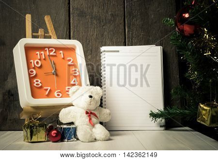 Counting down to Christmas New year Note