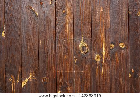 Wooden planks. Natural textured brown background.