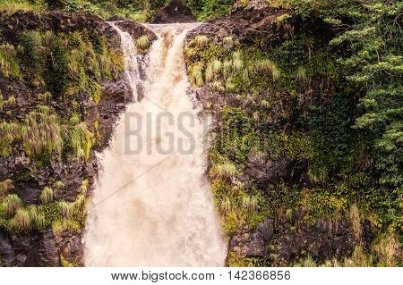 View At The Akaka Falls On Big Island In Hawaii