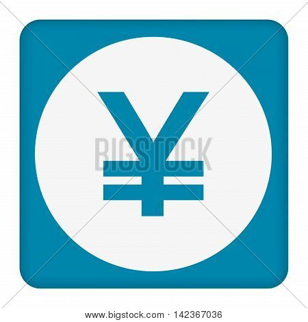 Yen sign icon. JPY currency symbol. Money button