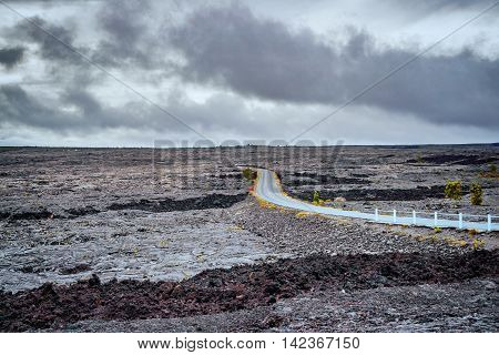 Landscape Around The Chain Of Craters Road In Big Island Of Hawaii