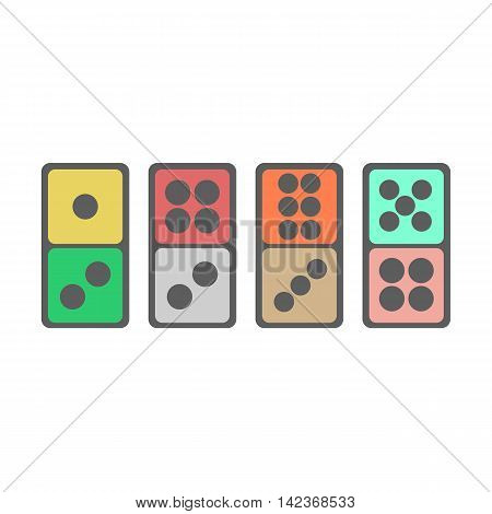 Domino icon illustration on the white background. Vector illustration