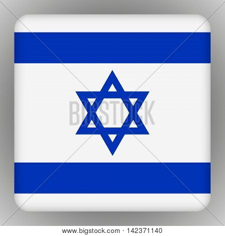 Vector - Israel Flag Smartphone Application Square Buttons.