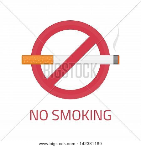 No smoking sign on white background. EPS 10.