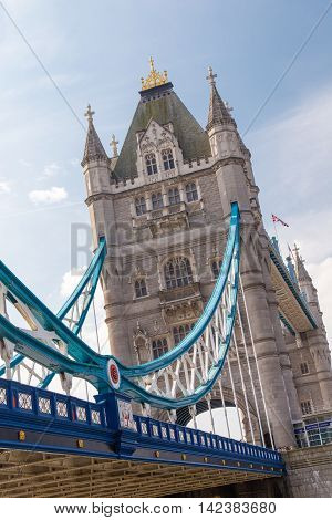 Famous Tower Bridge in London United Kingdom