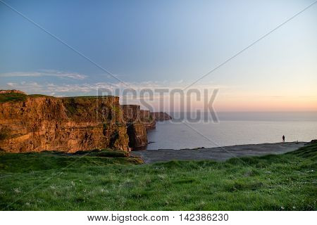 Ireland, Cliffs of Moher - Famous Tourist Attraction in Ireland