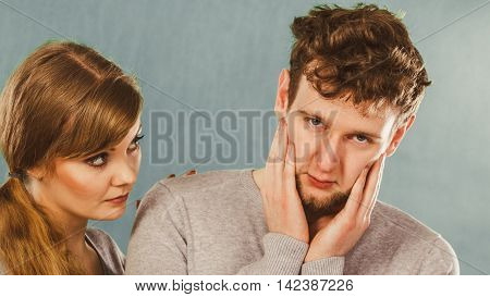 Sad Depressed Couple Portrait.