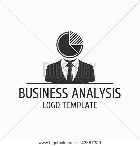 Business analyst vector logo design template. Vector logo template of analytics, analysis or development business. Universal template logo.