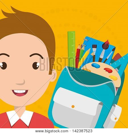 bag student notebook notepad vector illustration graphic