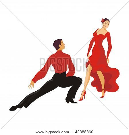 lady and gentleman dance paso doble. ballroom dancing couple