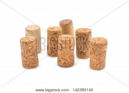 Wine corks  vintage, stopper on white background