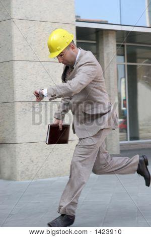 Ein Geschäftsmann-Running
