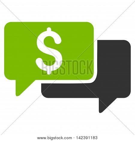 Price Bids icon. Vector style is bicolor flat iconic symbol with rounded angles, eco green and gray colors, white background.